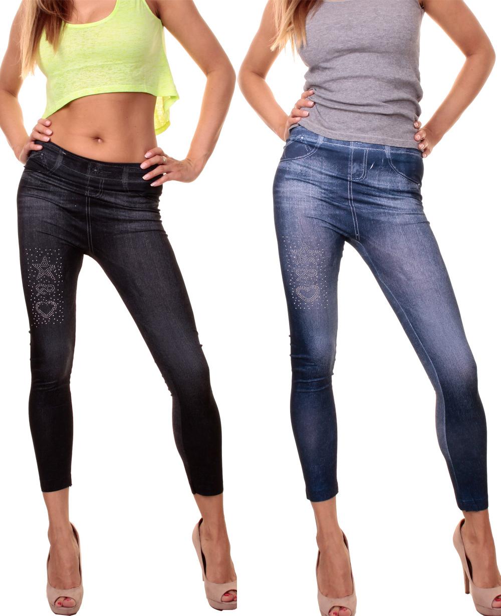 trendy leggings jeans look glitzer leggins stern herz. Black Bedroom Furniture Sets. Home Design Ideas